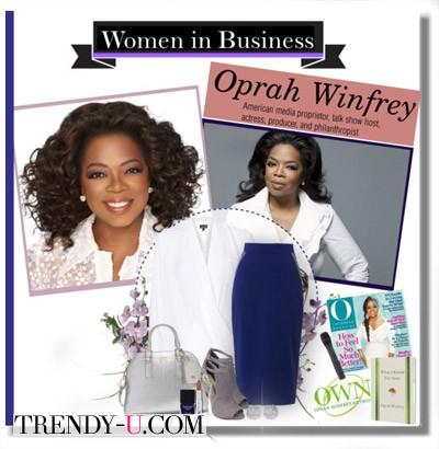 Синяя юбка-карандаш и белая блузка: business-like!