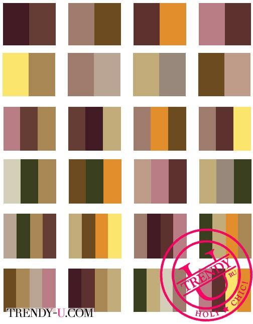 Сочетания коричневого цвета в одежде