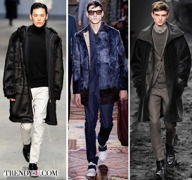Модная одежда из меха для мужчин