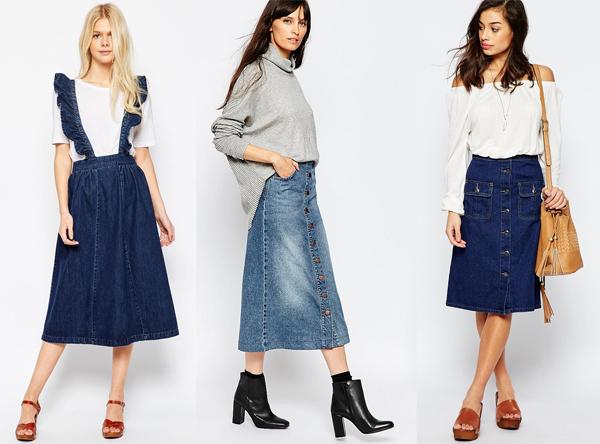 Модные джинсовые юбки в интерне-магазине