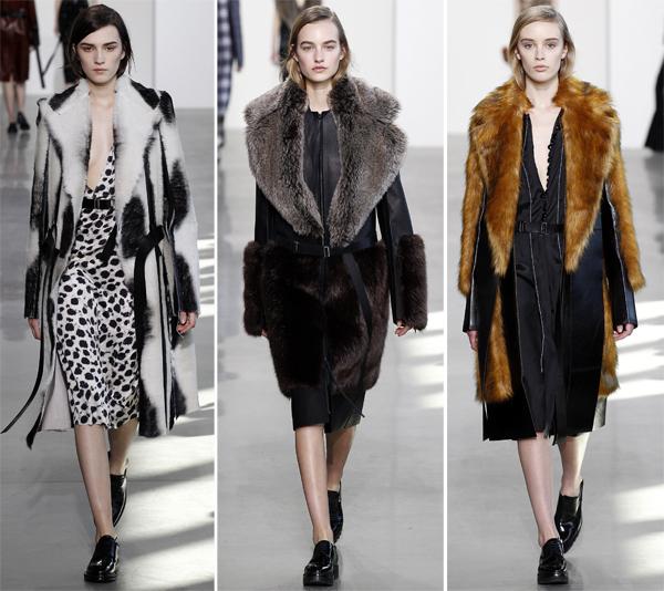 Модные пальто меховые женские 2016-2017 Calvin Klein Collection