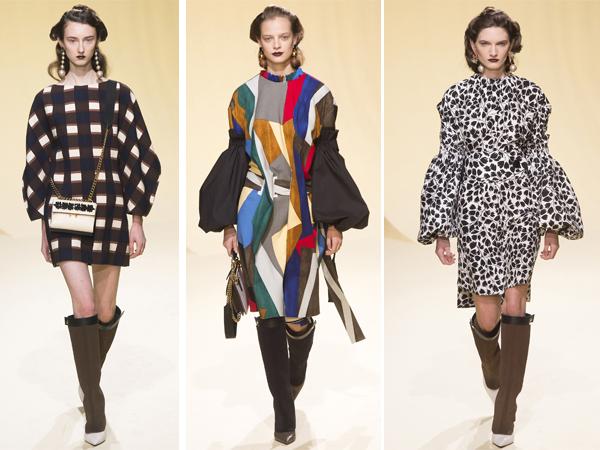 Marni предлагает носить высокие сапоги с платьями и пальто с принтами