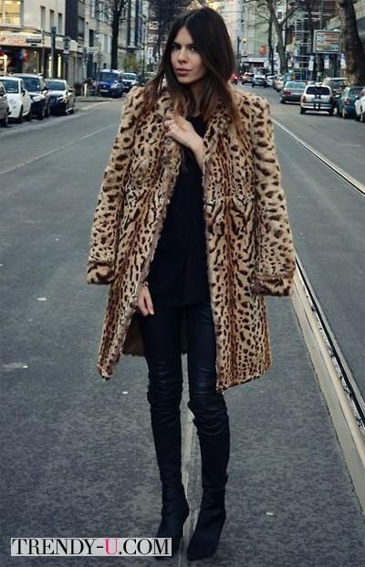 Лук с леопардовой шубой