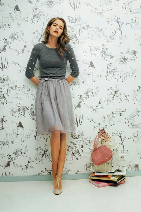 86fff02ee43 Серая юбка  25 стильных образов