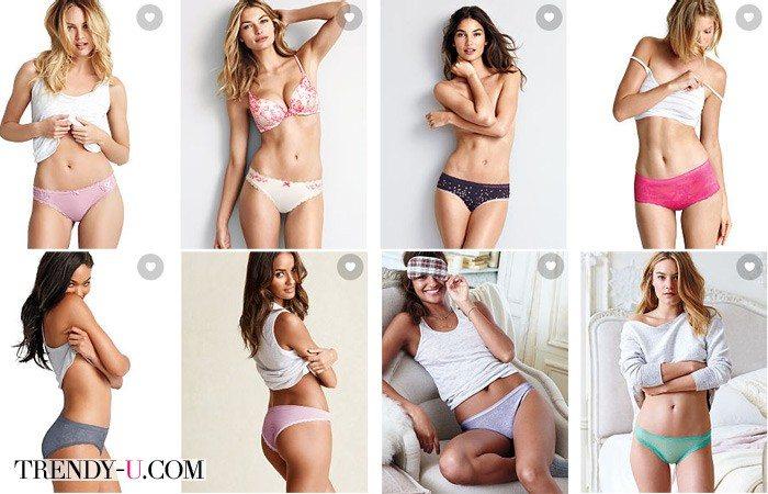 Стильные и кокетливые трусики от Victoria's Secret