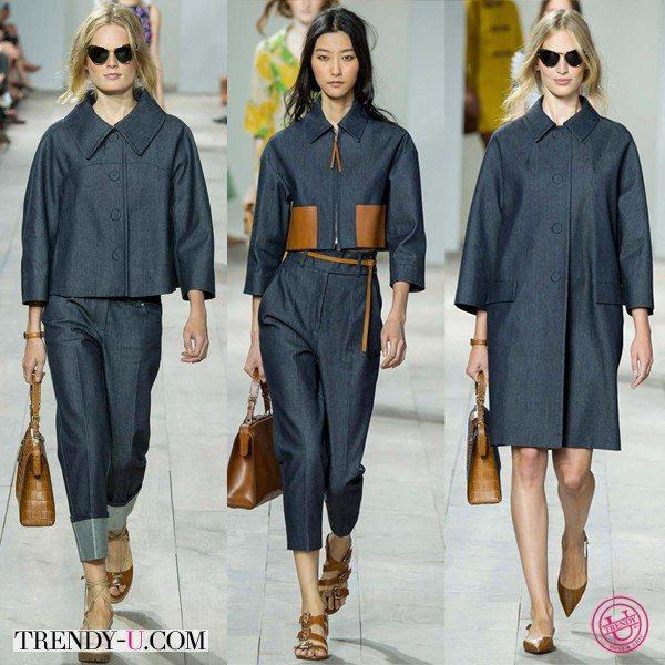 Джинсовая одежда для весны 2015 Michael Kors