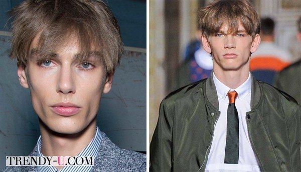 Модная мужская прическа на показах Kris Van Assche