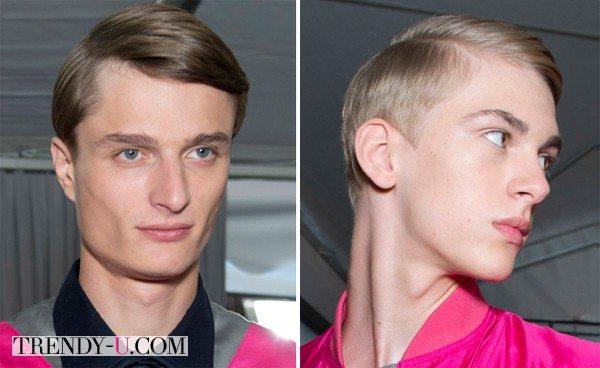 Модные мужские прически на показе коллекции Louis Vuitton 2015