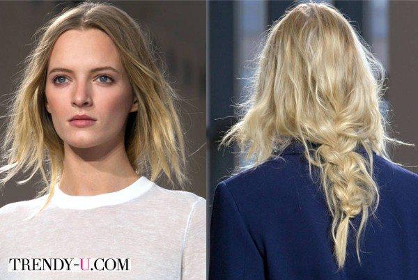 Модные косы весна-лето 2015 на показе коллекции Michael Kors