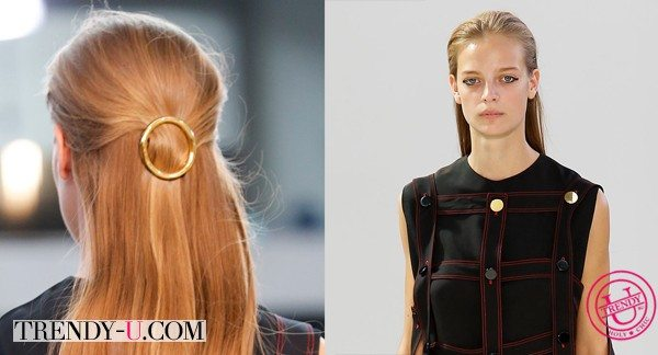 Модная прическа для длинных волос от Céline