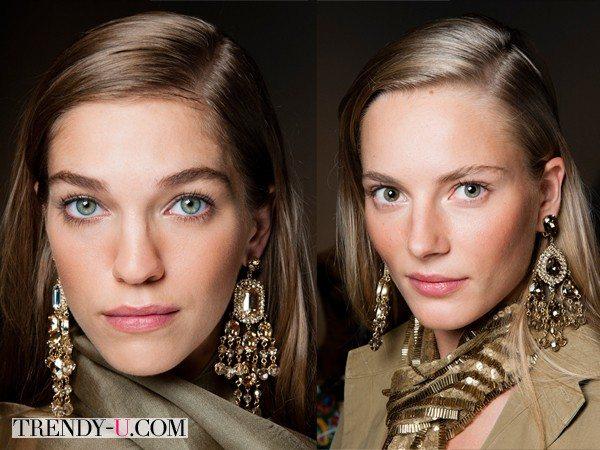 Макияж для модной коллекции Versace весна-лето 2015