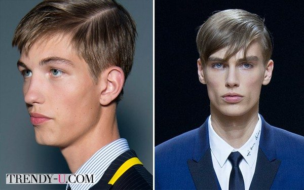 Стильные мужские прически по версии Christian Dior SS 2015, версия Homme