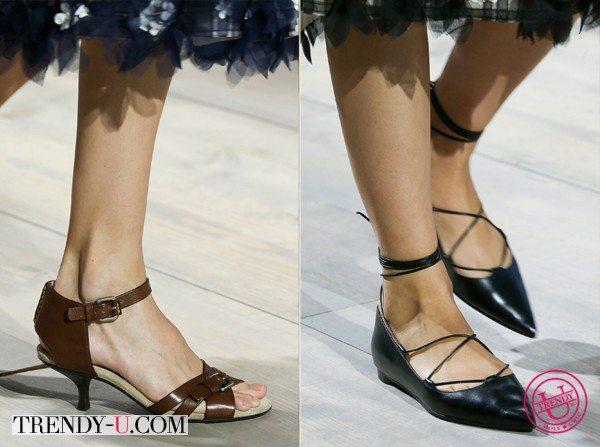 Нарядные босоножки и туфли с узким носком от Michael Kors весна-лето 2015