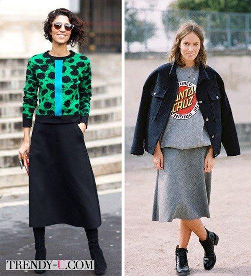 Уличные модницы в свитшотах