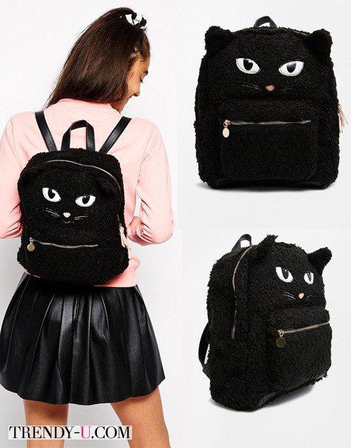 Рюкзак с мордой кота!