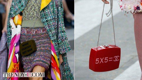 Сумки Chanel SS 2015: Make Fashion Not War