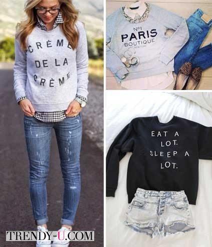 Ситшот с джинсами и рубашкой