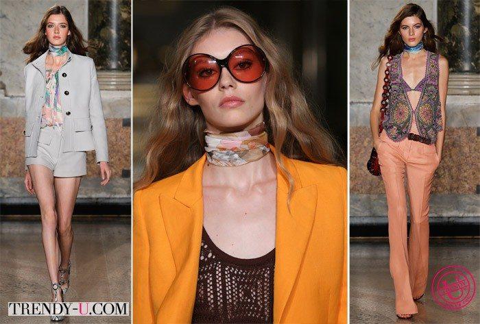 Стильные луки в стиле 70-х весна-лето 2015 от Emilio Pucci