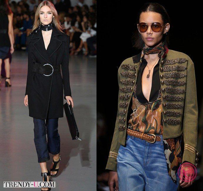 Шейные платки для весны 2015 на показах Fendi и Gucci