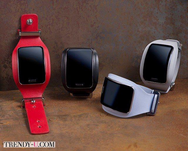 Смарт-часы Diesel Black Gold & Samsung 2015 в кожаном корпусе
