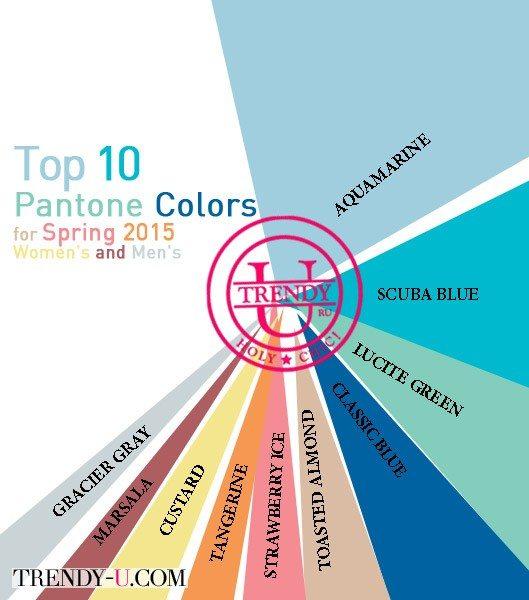Модные цвета весна-лето 2015 по версии Pantone