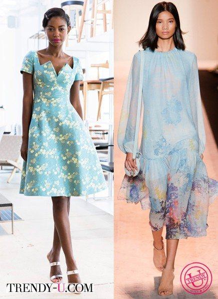 Платья цвета аквамарин для лета 2015