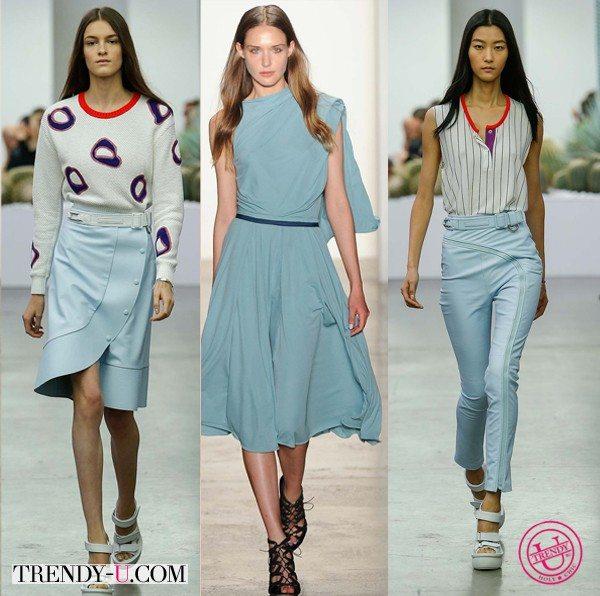 Модные цвета весна-лето 2015: аквамарин
