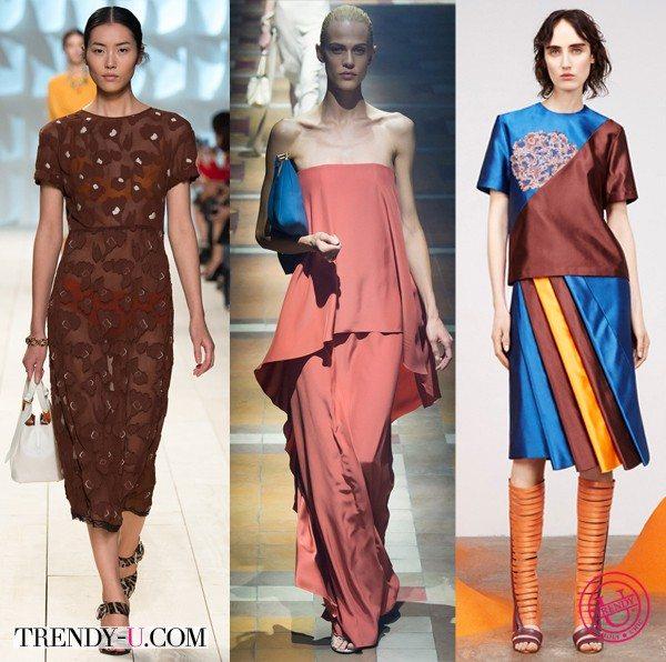 Модная одежда цвета Marsala
