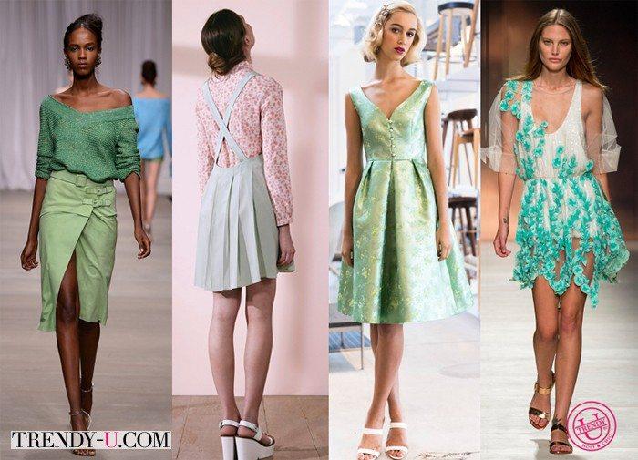 Модный оттенок зеленого весна-лето 2015
