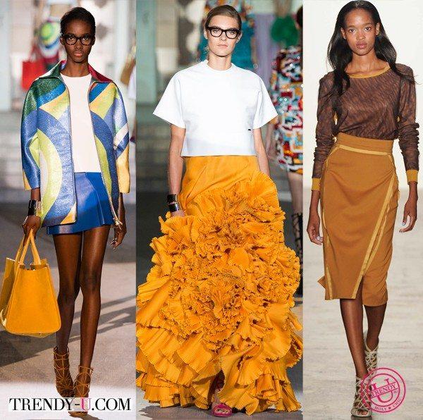 Модная одежда и аксессуары для весны и лета 2015 цвета мандарин