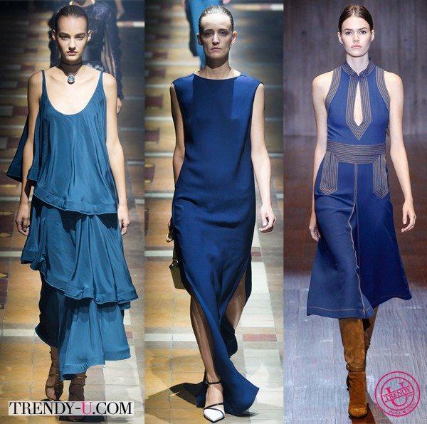 Модные тенденции цветов весна-лето 2015: синий