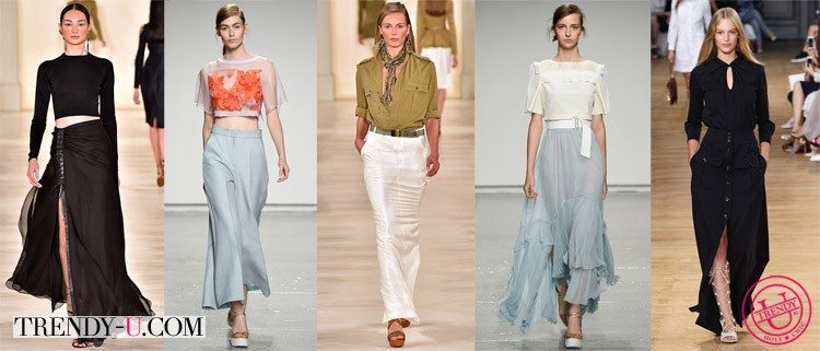 Длинные юбки для весны и лета 2015 от Ralph Lauren, Rebecca Taylor и Chloé