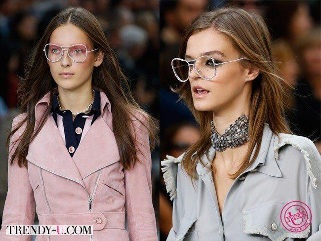 Очки для зрения и красоты из коллекции Chanel весна-лето 2015
