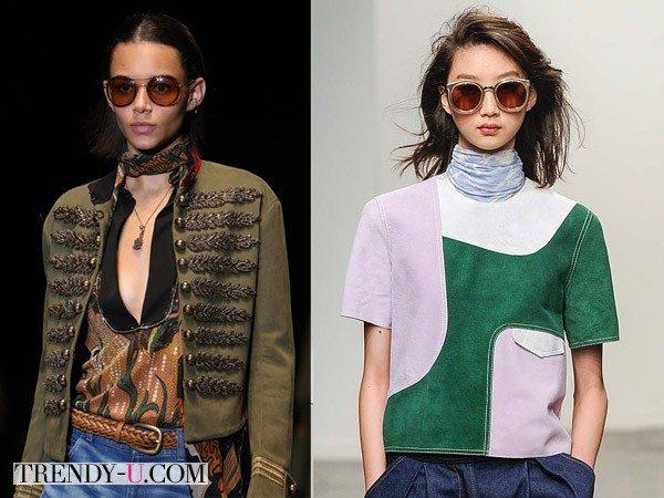 Солнцезащитные очки в круглой оправе от Gucci и Karen Walker SS 2015