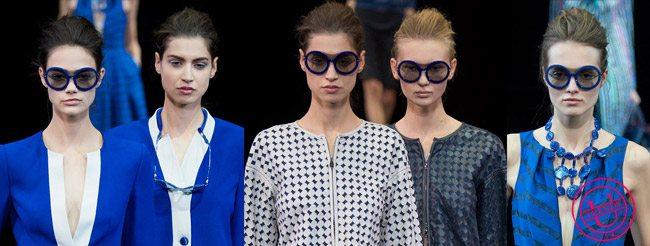 Модные очки с круглой oversized оправой весна-лето 2015 от Emporio Armani