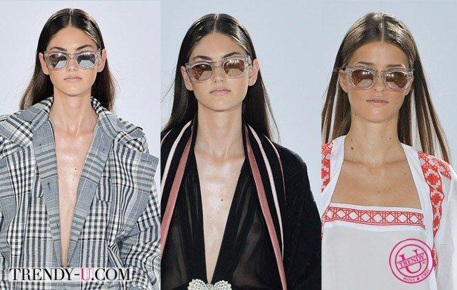 Стильные очки в круглой оправе Temperley London весна-лето 2015