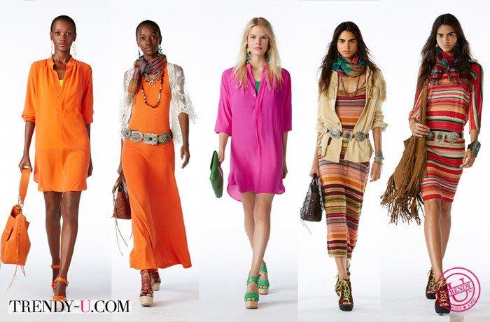 Стильные платья для девушек и женщин весна-лето 2015 Polo Ralph Lauren