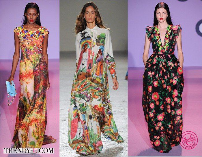 Платья с яркими принтами в этическом стиле от Andrew Gn и Stella Jean весна-лето 2015