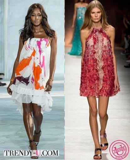 Модные луки весна-лето 2015 от Diane von Furstenberg и Blumarine