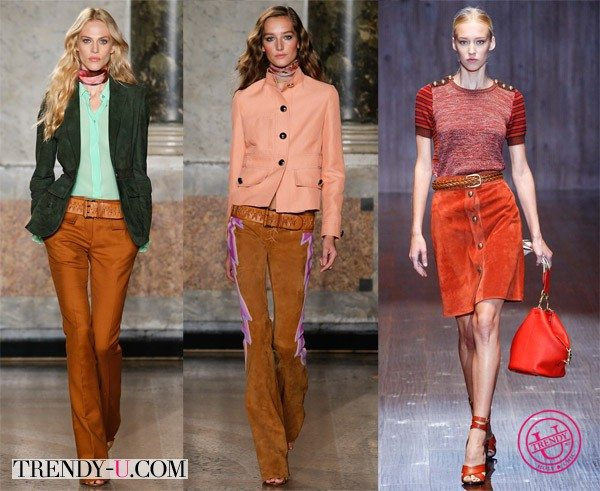 Стильная одежда из замши - маст весны и лета 2015