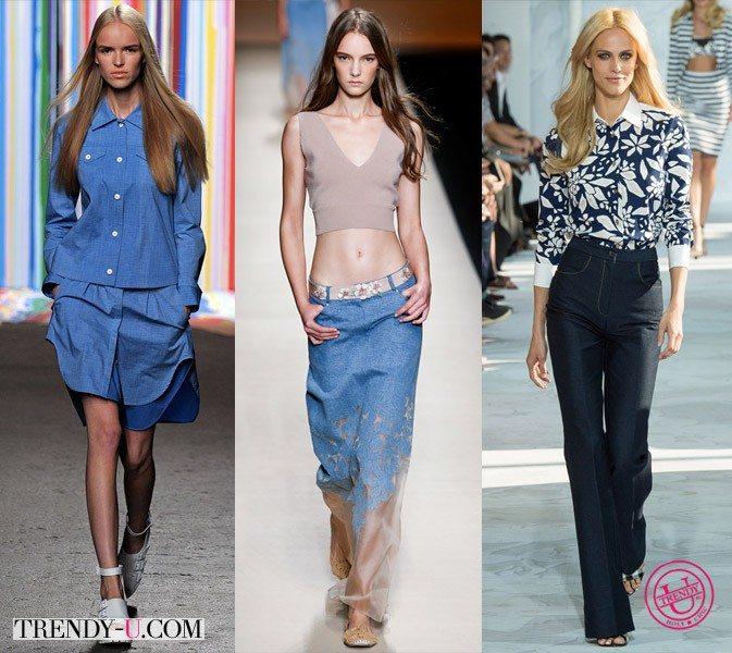 Модная одежда из денима весна-лето 2015 от ICB, Alberta Ferretti и Diane von Furstenberg