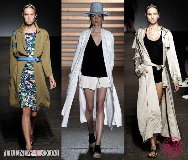 Модные тренчкоты-кимоно весна-лето 2015 Trace Reese, Thakoon & Tibi