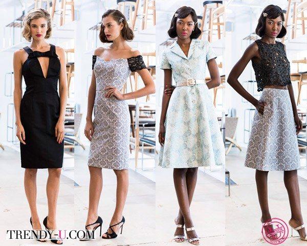 Модные платья в стиле ретро 2015