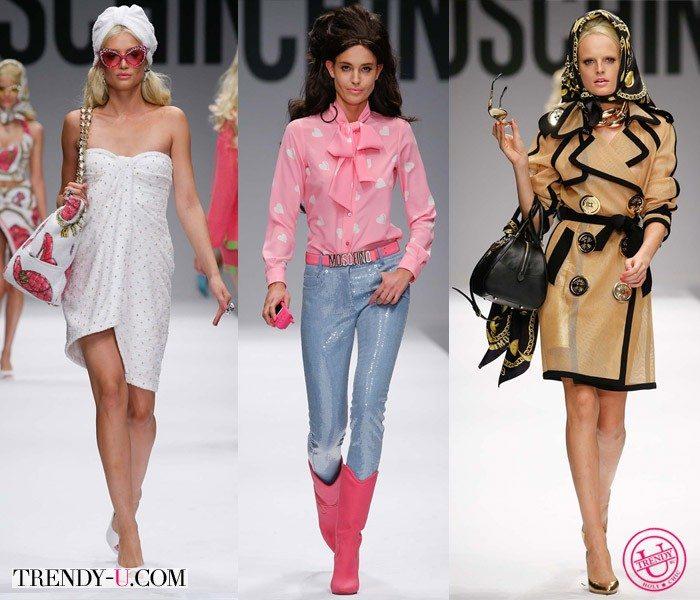 Одежда в стиле ретро 60-х и 70-х от Moschino весна-лето 2015