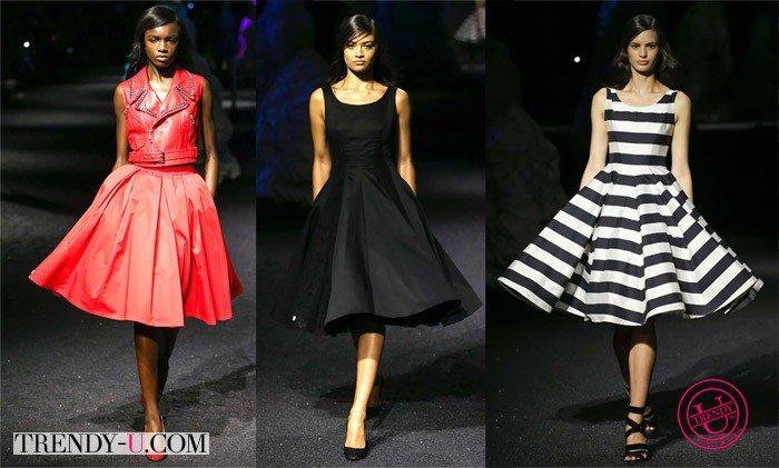 Вечерние платья в стиле ретро весна-лето 2015