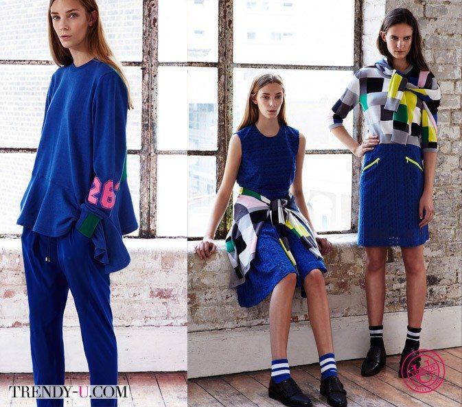Повседневная одежда в спортивном стиле весна-лето 2015 Preen Line
