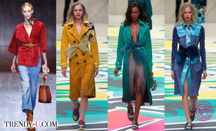 Модная туника Gucci и замшевые плащи Prada весна-лето 2015
