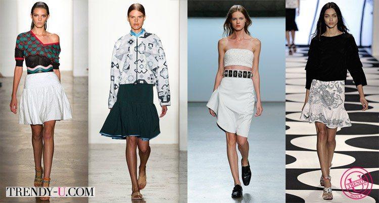 Пышные юбки в стиле преппи и спортивном от Sophie Theallet, Nicole Miller, Ostwald Helgason и Sally LaPointe весна-лето 2015
