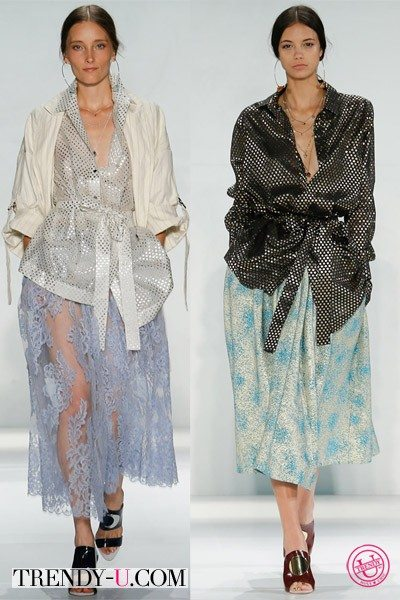 Стильные луки с пышной юбкой для весны и лета 2015 от Zimmermann