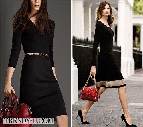 Креативное черное платье